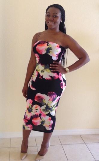 dress tube top dress
