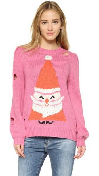 Wildfox sweater magenta