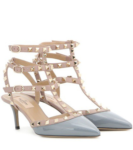 Valentino heel pumps leather grey shoes