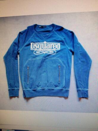 sweater blue brand dsquared dsquared2