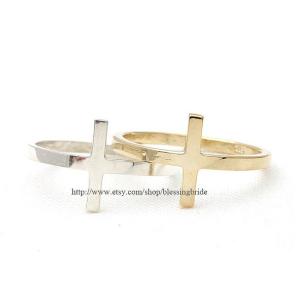 cross jewelry jewels ring cross ring sterling silver sterling silver ring sideways cross sideways cross ring