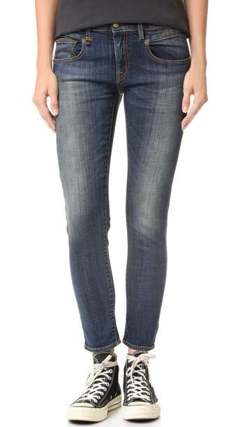R13 Boy Skinny Jeans - Vintage Dark