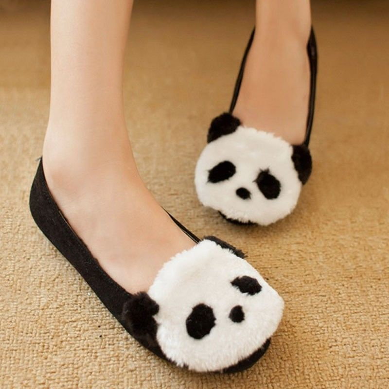2013 New Fashion Women Hot Lovely New Panda Cartoon Flat Shoes Spring | eBay