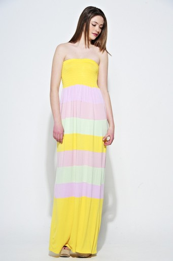 Womens Corliss Candy Striped Maxi | Pop Couture