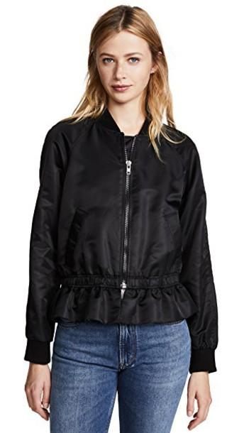 FRAME ruffle noir jacket