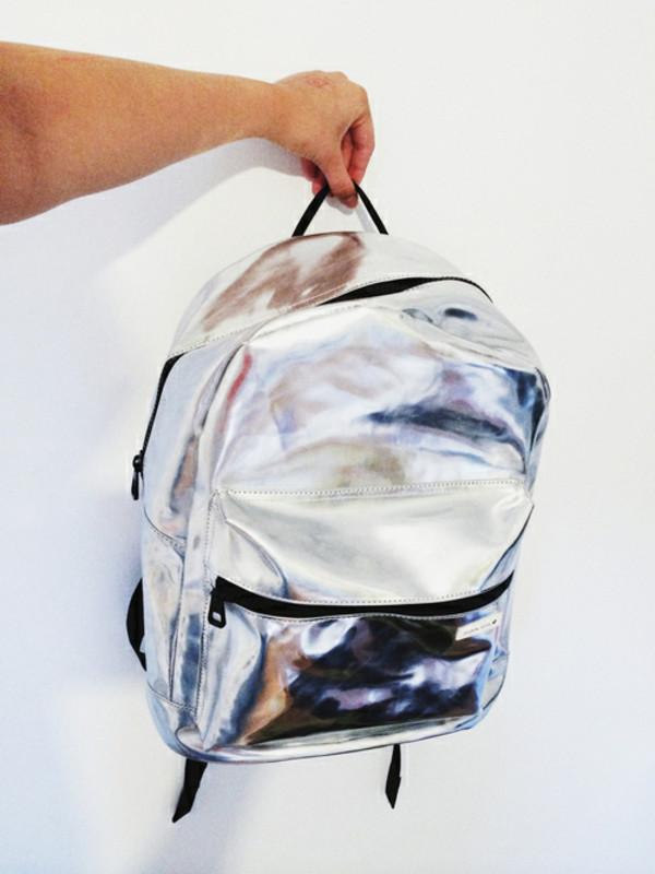 bag backpack grunge holographic backpack backpack