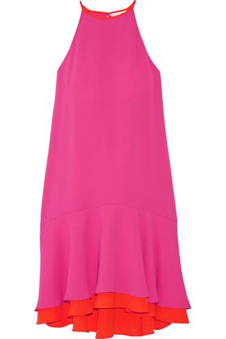 dress layered pink orange