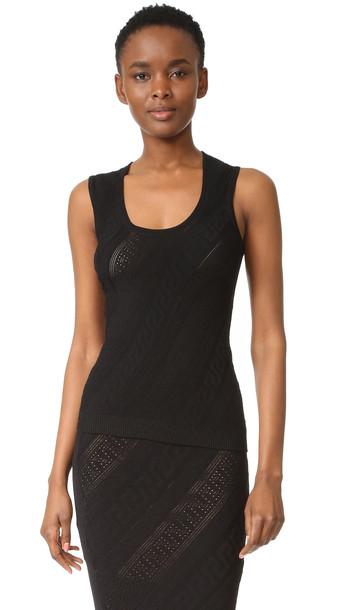 Versace Sleeveless Top - Black