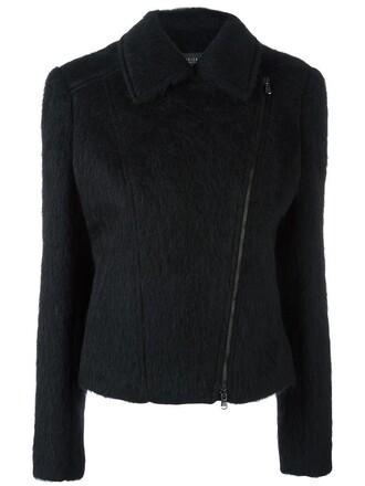 jacket zip women mohair black