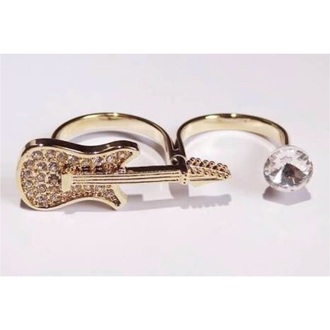 jewels guitar ring double ring