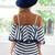 striped chiffon playsuit