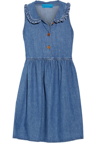 dress mini dress mini ruffle denim