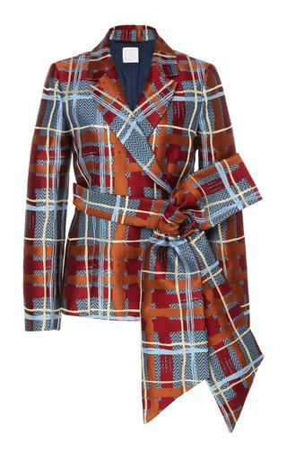 Belted Brocade Blazer Jacket by Stella Jean | Moda Operandi