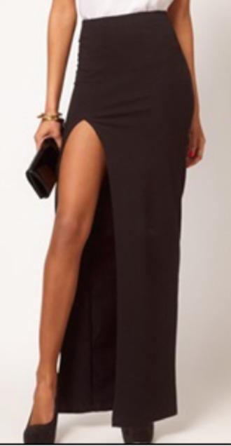 skirt slit skirt long skirt longskirtwithslit slit maxi skirt