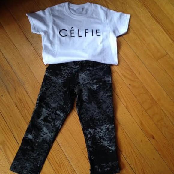t-shirt celine paris womens celfie trendy