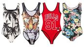 swimwear,chicago bulls,91,bulls 91,floral,tiger,palm tree print,tank top,leotard