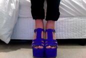 shoes,blue,sandals,high heels
