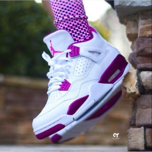 Shoes Air Jordan S Jordans Purple And White Sneakers