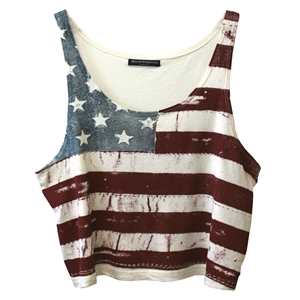 SHOP SUSTAINABLE FASHION - John Galt by Brandy Melville Mirella Flag Tank