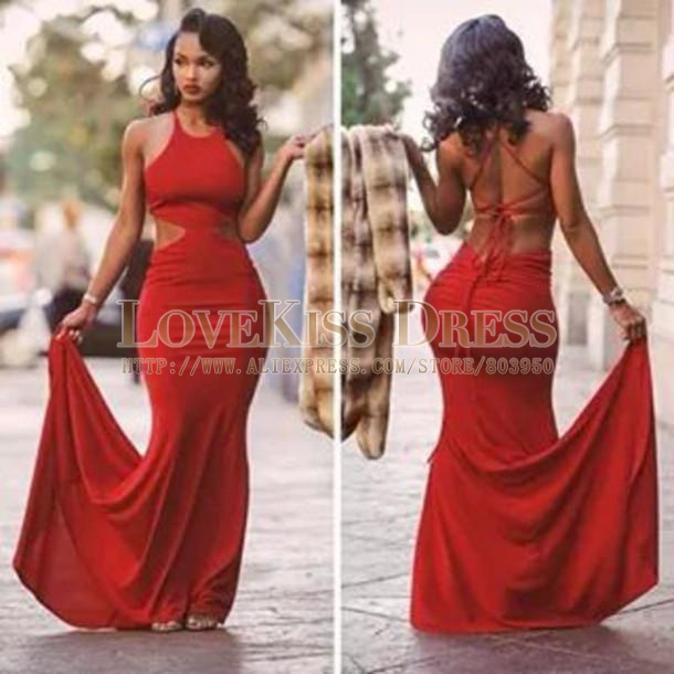 Aliexpress.com : Buy Mermaid Prom Party 2015 Backless Red Evening Dresses Sexy Chiffon Formal Pageant Celebrity Evening Gowns Custom Made Prom Dress from Reliable dress wallet suppliers on Love Kiss Evening Dress and Wedding Dress Manufactory   Alibaba Group