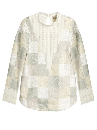 top patchwork cut-out lace