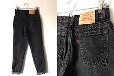 Vintage levi's high waisted boyfriend jeans black size 2 1990