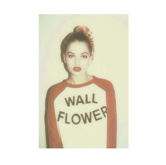 wall hipster shirt tumblr cute flower girl ok