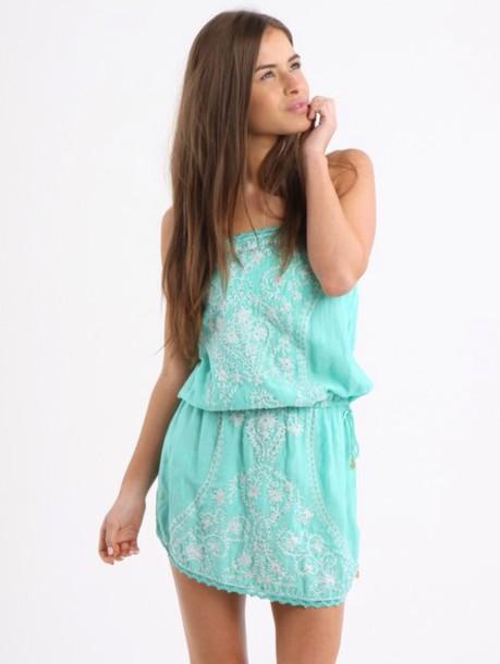dress beach mint green cotton summer beach dress green dress style