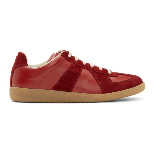 Maison Margiela Burgundy Replica Sneakers