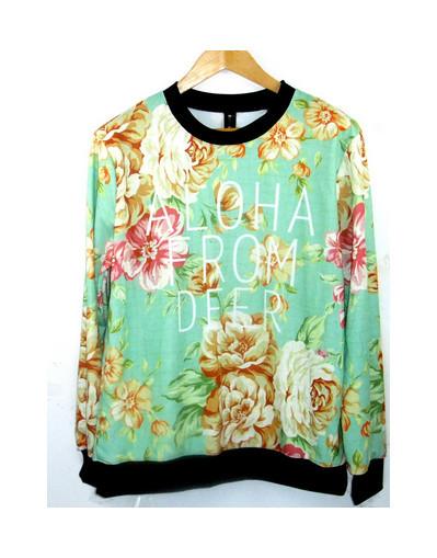 360* aloha from deer sweater shirt pullover floral flower hawaii