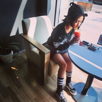 sweater fashion hoodie new york city cool girl style outfit ulzzang harajuku style new yorker cool outerwear superstars