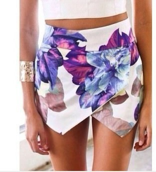 Outletpad | Tiered Shorts Lotus flower | Online Store Powered by Storenvy