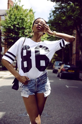 shirt varsity american football tumblr women girl stripes varsity tshirt american football american varsity tshirt