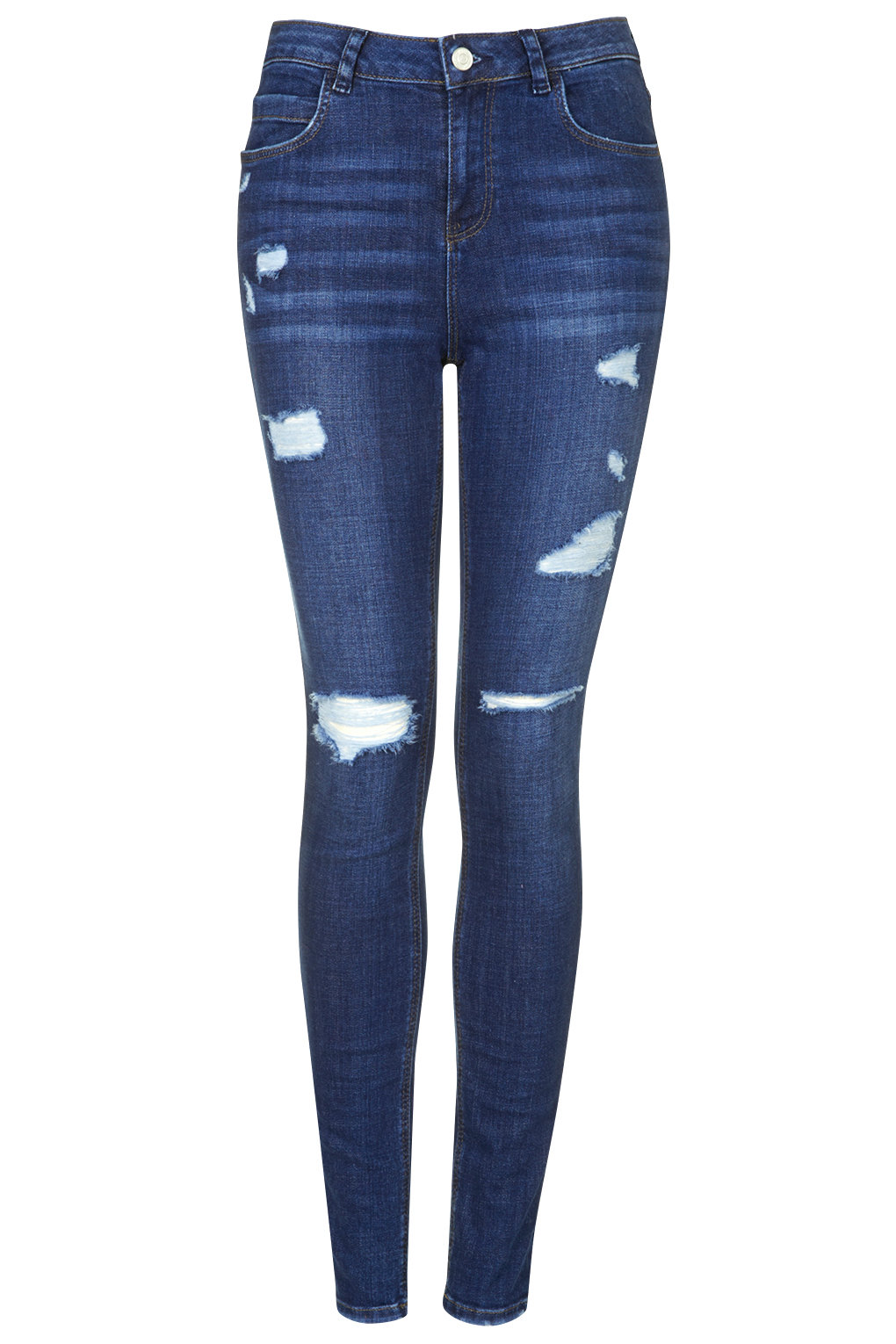 MOTO Ripped Skinny Jeans - Petite - Clothing