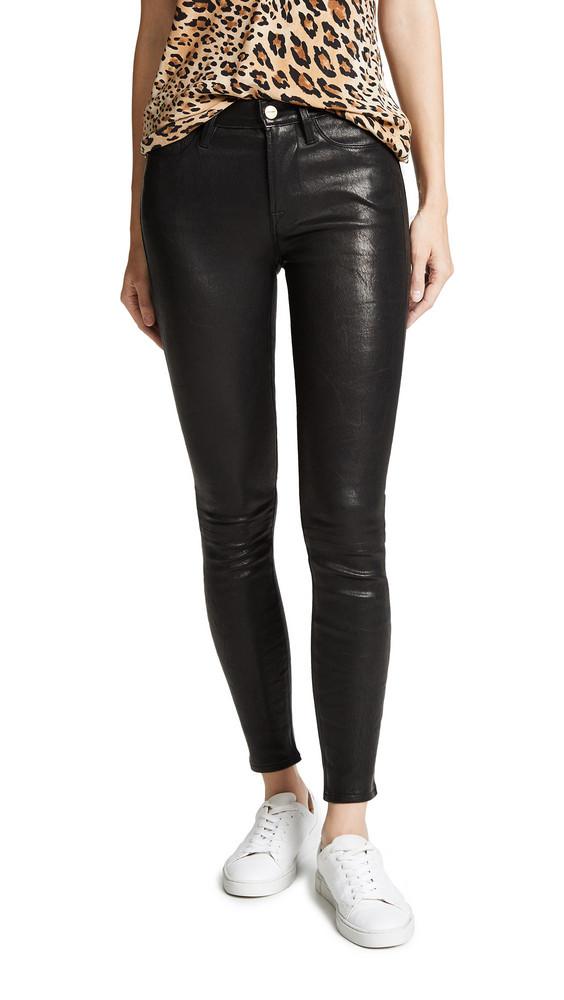 FRAME Le High Skinny Pants in black