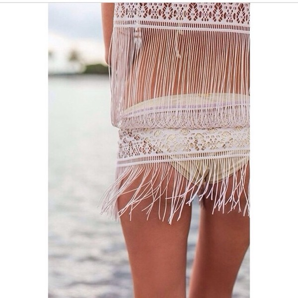 swimwear white swimwear lace white lace top summer outfits beachwear cover up beach white summer top summer cover up beautiful dress swimwear cover up mesh sheer summer holidays