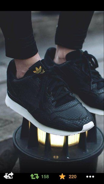 shoes black adidas