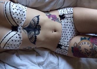 underwear polka dots white and navy