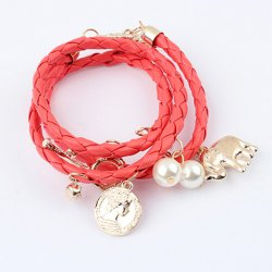 Wholesale Fashion Beaded Knitting Design Wrap Bracelet For Women (COLOR ASSORTED), Bracelets - Rosewholesale.com