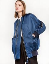 jacket,blue zip bomber jacket,blue jacket,bomber jacket,36683