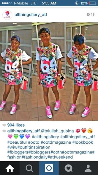 dress colorful jersey dress