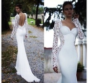 dress,white,desperate,pram,lovely,fashion,most,beautiful,ever,seen,long,wedding,arms,weretoget,white dress,lace,open back,prom gown,bridal