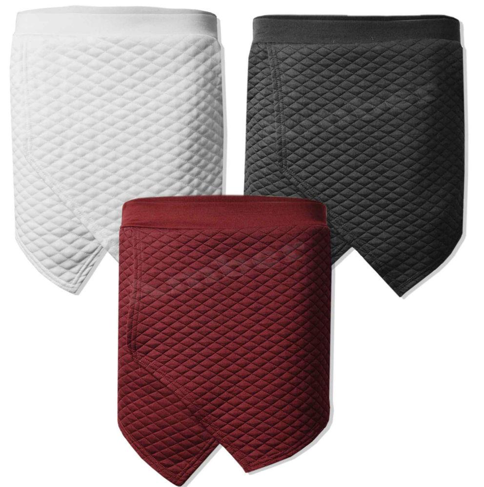 Women Ladies New Quilted Skirt Shorts Flanging Plain Mini Wrap Skorts Irregular | eBay