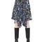 Floral printed crepe de chine skirt