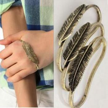 Envoyer 1 pcs, punk exagérée vintage. feuilles, plume. lune, palme. bracelet bijoux de mode pour femme dans de sur Aliexpress.com