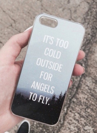 phone cover technology quote on it pll ice ball too cold blue angel iphone 4 case ed sheeran
