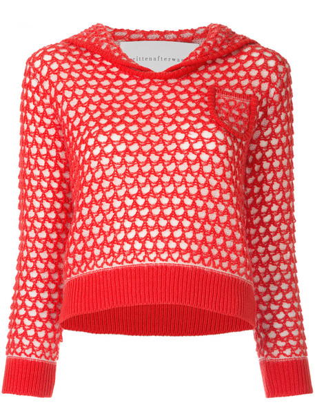 Writtenafterwards jumper sailor women mohair wool red sweater