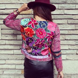 jacket mexico mexican print mexico t-shirt mexican aztec mexican serape mexican art coat jeans flowers floral