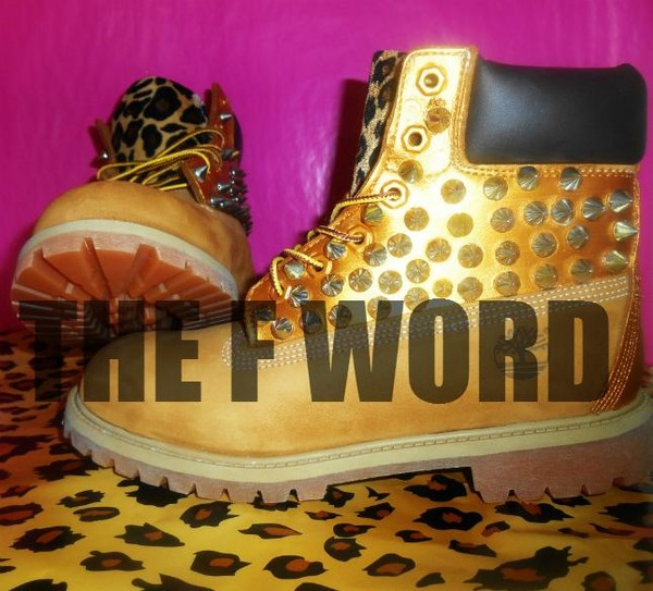 shoes leopard print gold timberlands new hot
