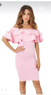 dress,pink,pink dress,bardot dress,off the shoulder,off the shoulder dress,bodycon,bodycon dress,ruffle,ruffle dress,frill,frilly,frill dress,midi dress,party dress,sexy party dresses,sexy,sexy dress,party outfits,sexy outfit,summer dress,summer outfits,spring dress,spring outfits,fall dress,fall outfits,classy dress,elegant dress,cocktail dress,cute dress,girly dress,birthday dress,clubwear,club dress,graduation dress,homecoming,homecoming dress,wedding clothes,wedding guest,engagement party dress,prom,prom dress,short prom dress,pink prom dress,romantic dress,romantic summer dress,summer holidays,pool party